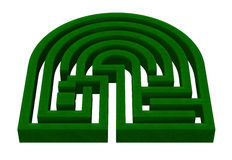 树篱迷宫 库存例证