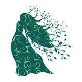 树精若虫森林样式剪影古老神话幻想 向量例证图片