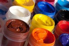 树胶水彩画颜料油漆 免版税库存图片