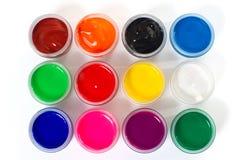 树胶水彩画颜料油漆 免版税图库摄影