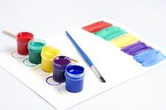 树胶水彩画颜料油漆 库存图片