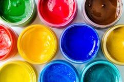 绘树胶水彩画颜料 向量例证
