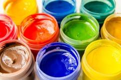 绘树胶水彩画颜料 图库摄影