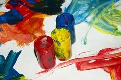树胶水彩画颜料 库存图片