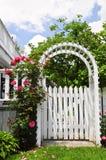 树荫处庭院白色 图库摄影