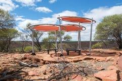 树荫风雨棚:Kalbarri国家公园 库存图片