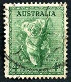 树袋熊澳大利亚邮票 免版税库存图片