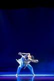树被包裹的藤条美丽的言情中国古典舞蹈 库存照片