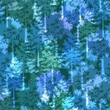 树,无缝的背景 库存例证