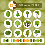 树 收集设计要素绿色徽标 免版税图库摄影