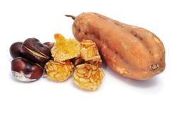 栗子panellets土豆甜点 库存图片