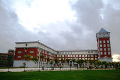 校园学院大厦 免版税库存照片