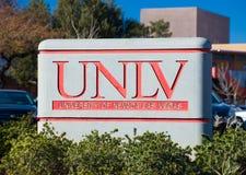 校园标志和商标在内华达大学 免版税库存照片