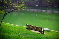 校园的湖边,中国科学技术大学,中国 库存图片