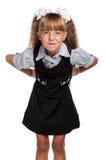校服的小女孩 库存图片
