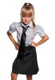 校服的小女孩 图库摄影