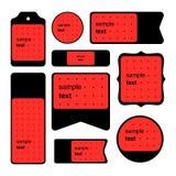 样品商标和正文卡片的汇集 库存照片