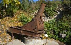 样品的短程高射炮1877在Ivangorod 冬天 免版税库存图片
