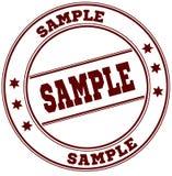 样品简单的红色邮票 免版税库存图片
