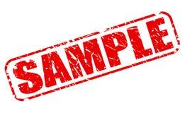 样品红色邮票文本 免版税库存照片