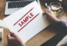 样品选择数据材料概念的选择测试 免版税图库摄影