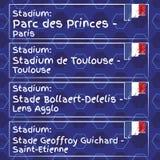 样式、旗子、日期和信息橄榄球冠军的 向量例证