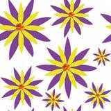 样式传染媒介无缝的花 库存照片