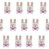 样式兔子在桃红色短裤 皇族释放例证