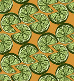 样式切片石灰柑橘 背景 样式剪影 免版税库存照片