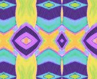 样式印地安淡紫色蓝绿色 免版税库存图片