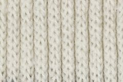 样式和背景的白色编织的羊毛纹理 图库摄影