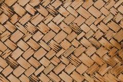 样式和背景的被编织的竹纹理 免版税图库摄影