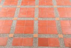 样式块砖地纹理砂岩或石头洗涤背景 免版税库存照片
