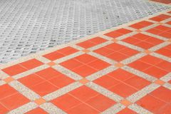 样式块砖地纹理砂岩或石头洗涤背景 库存图片