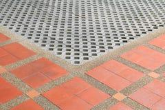 样式块砖地纹理砂岩或石头洗涤 免版税图库摄影