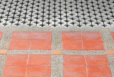 样式块砖地纹理砂岩或石头洗涤 免版税库存图片