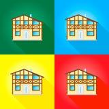 样式房子 免版税库存图片