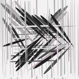 样式无缝与抽象灰色线 免版税库存图片