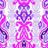 样式无缝的民间传说装饰品 部族种族传染媒介纹理 在阿兹台克样式的镶边刷子 图部族刺绣 印地安人, 库存例证