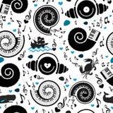 样式海元素和音乐 图库摄影