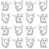 样式猫艺术背景 免版税库存图片
