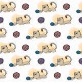 样式猫逗人喜爱的戏剧编织的羊毛 库存照片