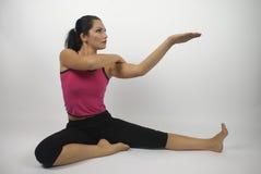 样式瑜伽 免版税库存照片