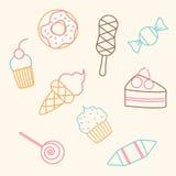 样式甜点 设计食物图标例证向量您 免版税库存图片