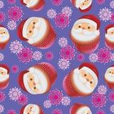 样式用杯形蛋糕圣诞老人 免版税图库摄影