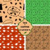 样式用茶和咖啡 库存照片