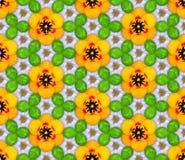 样式由花和三叶草做成 免版税库存照片