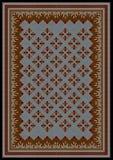样式的东方人地毯的在棕色和蓝色shades 图库摄影