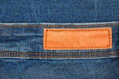 样式的皮革牛仔裤标签 图库摄影