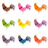 样式色的公鸡 库存例证